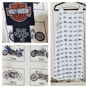 Harley Davidson EUC dress size XL 100% silk